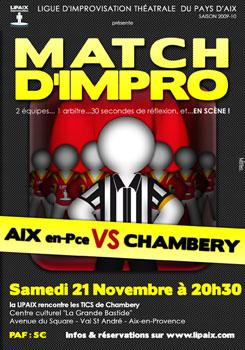 Match d'impro Lipaix vs Chambéry