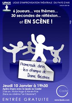 Affiche apéro impro Lipaix 10 janvier 2008
