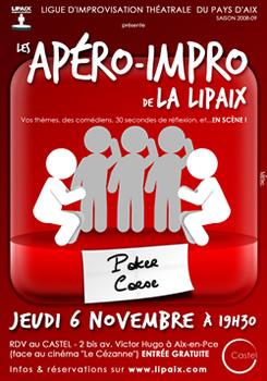 Apéro impro Lipaix 6 Novembre 2008