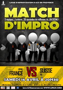 Affiche Match d'impro Lipaix HMAP